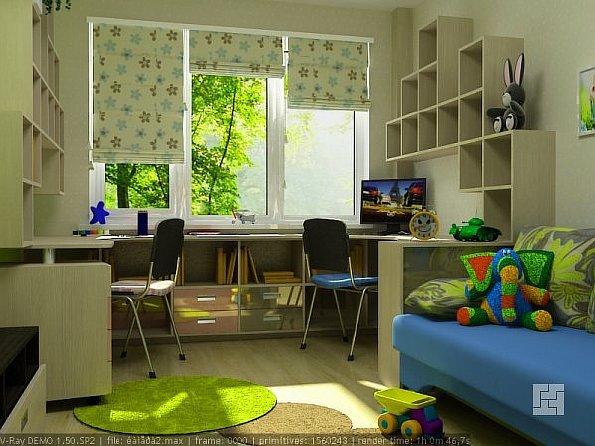 Дизайн комнаты для 2 мальчиков разного возраста