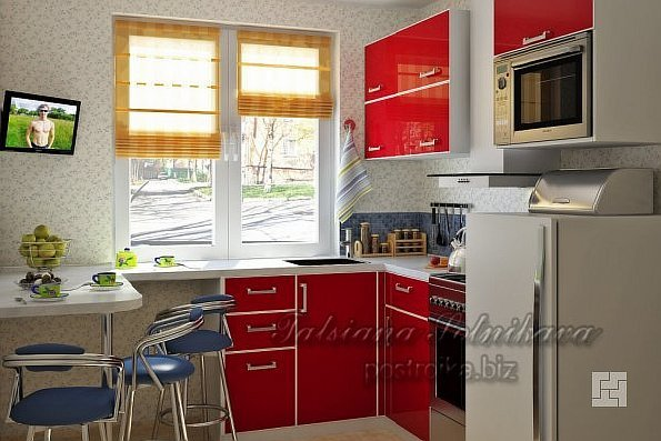 Комфортный и уютный интерьер кухни в хрущевке, или Идеям нет предела!