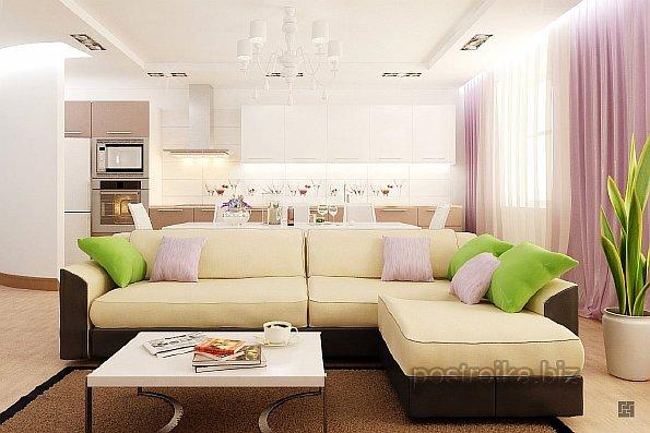 Идеи дизайна кухни совмещенной с гостиной