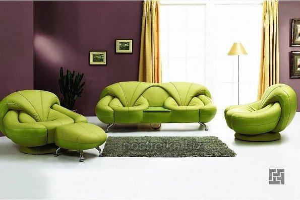 Сочетание цветов зеленый и серый в интерьере