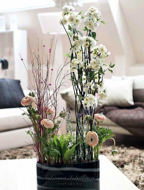 Искусственные декоративные цветы в интерьере