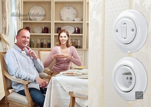 Розетки  и выключатели компании ABB – изысканный дизайн.