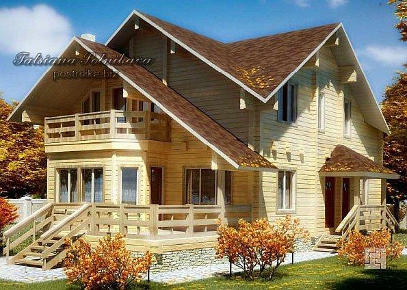 Деревянные дома из бруса: эффектная планировка - только начало!