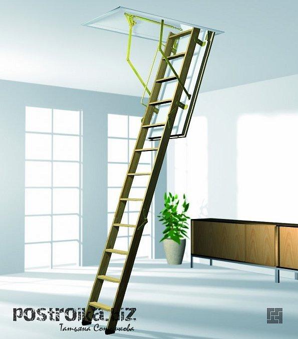 Два варианта сборки складных чердачных лестниц своими руками