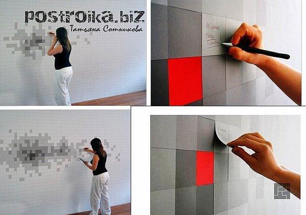 Нестандартные решения стандартных ситуаций, или Дизайн стен необычными обоями