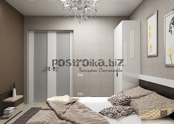 Фото спален с комбинированием обоев маленьких спален 9