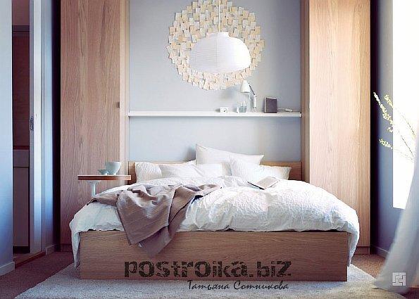 Фото спален с комбинированием обоев маленьких спален 2