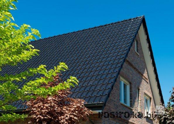 Крыша с имитацией керамической черепицы