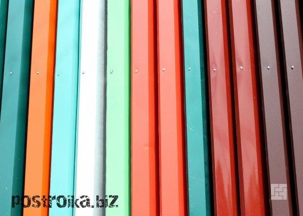 Профилированный настил: цветовая гамма