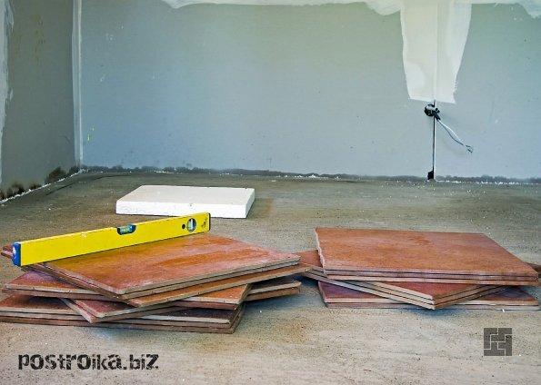 Подготовка пола к укладке плитки