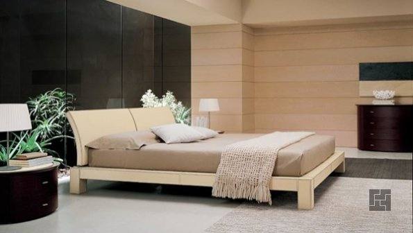 спальная в стиле экодизайна