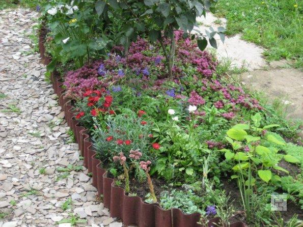 металличесий садовый бордюр
