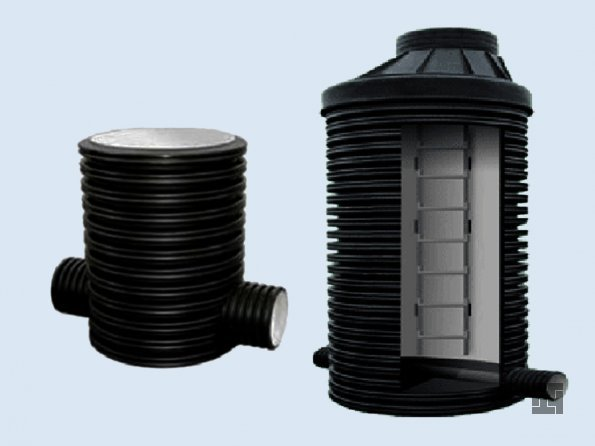 Пластиковый канализационный колодец из гофры