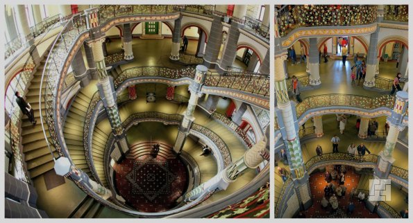 Лестница в Доме правосудия в Галле, Германия