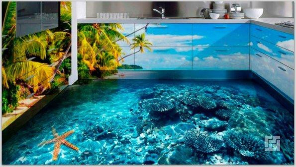 Наливной пол с эффектом 3D