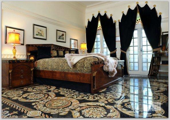 Наливные полы 3D в спальне