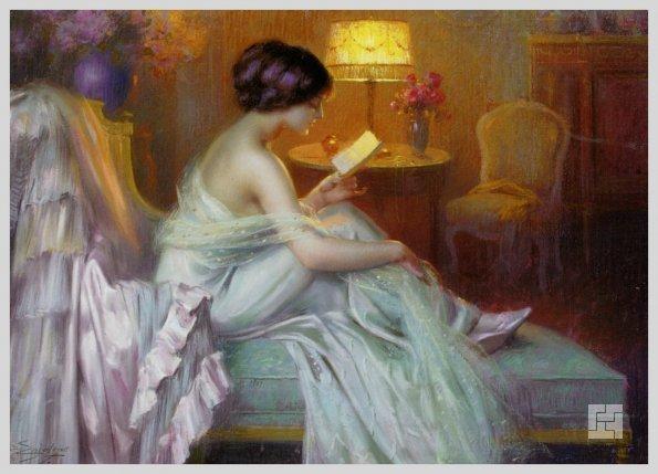 Чтение в будуаре