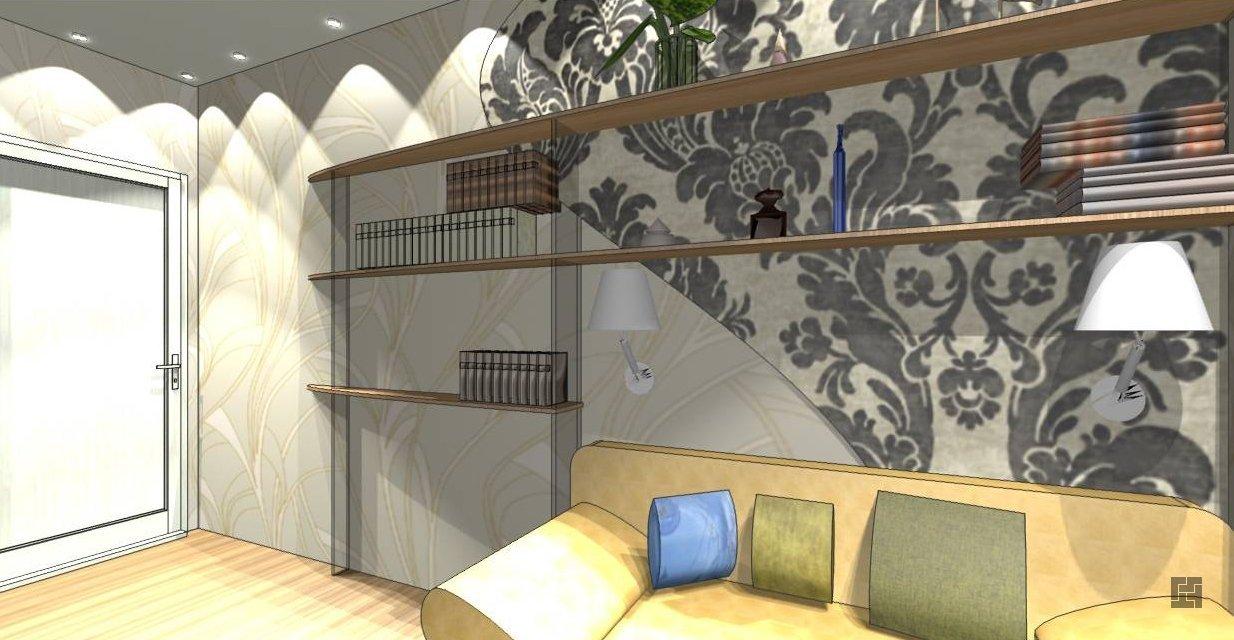 Интерьер комнаты шириной 2 метра