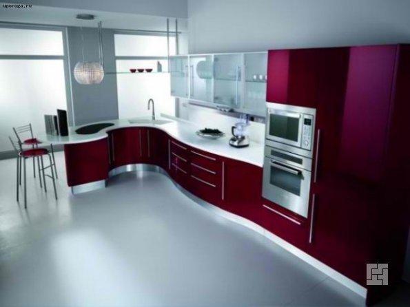 Вид современной кухни