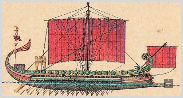 Старинный римский корабль