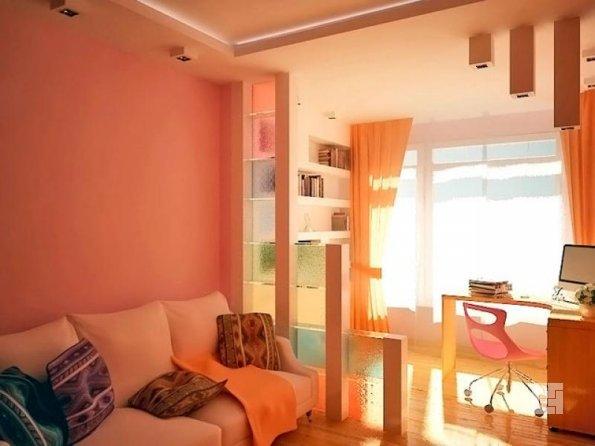 дизайн совмещенной комнаты