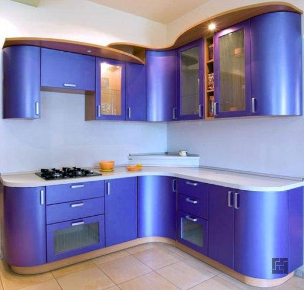 Кухня в сиреневых тонах