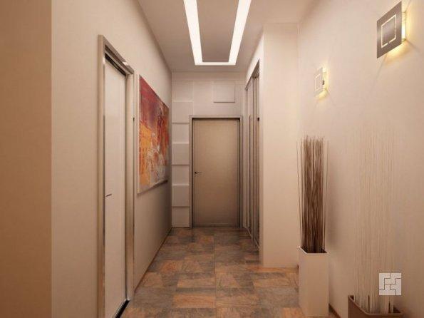 освещение в узкой спальне по периметру