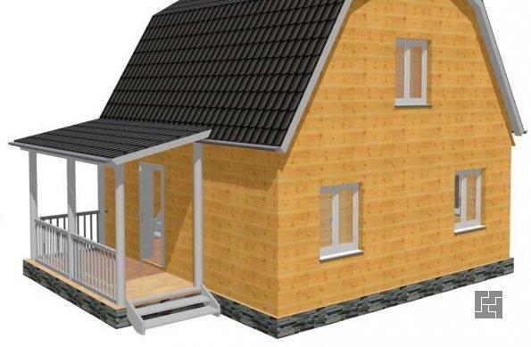 проект дома с классическим крыльцом