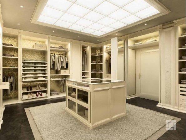 изолированная гардеробная комната