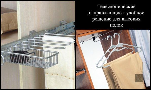 В современной гардеробной найдется свое место под каждую вещи
