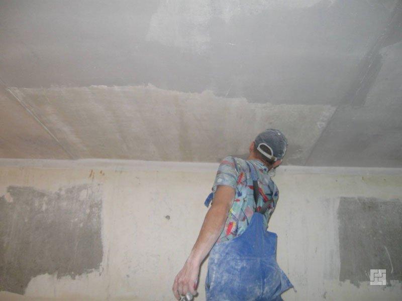 Подготовка потолка к побелке