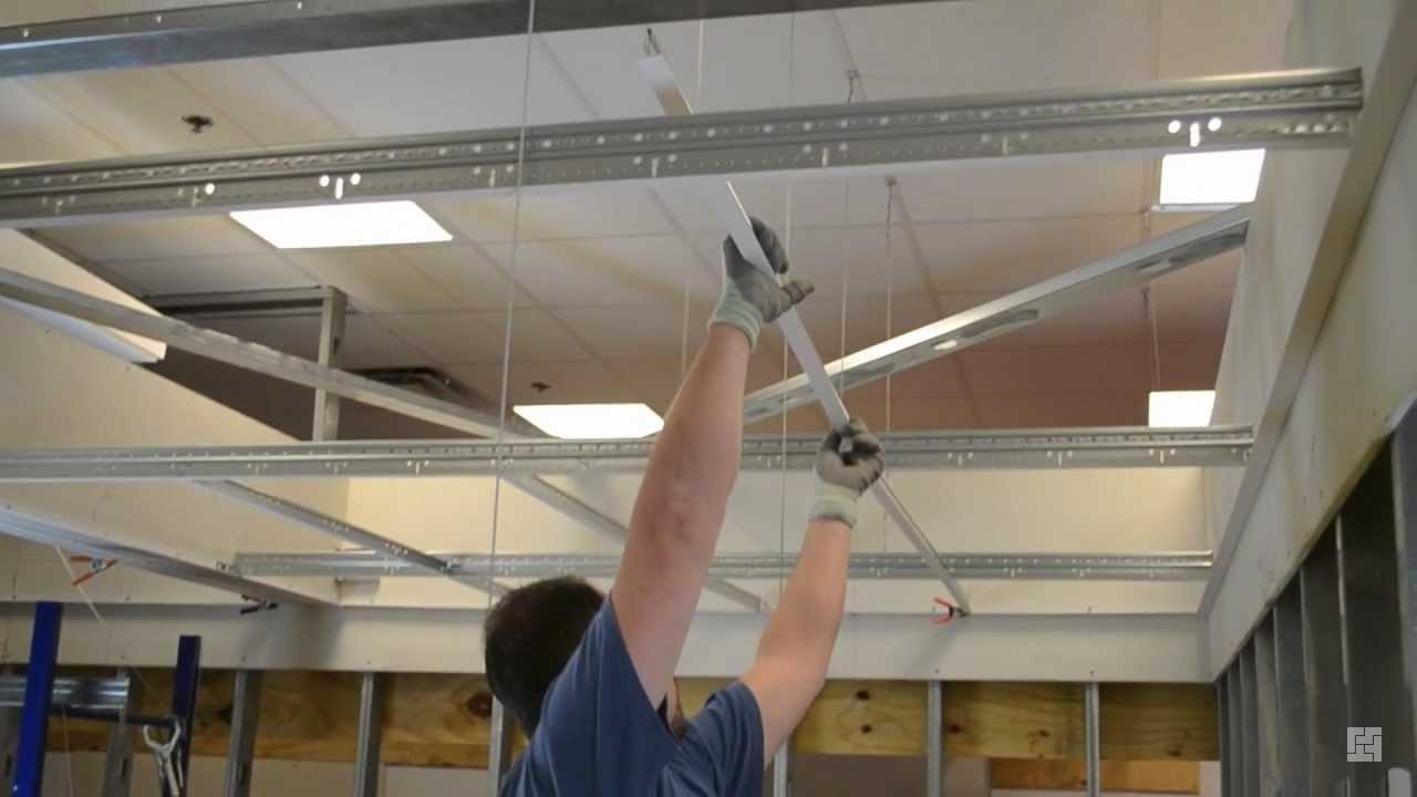 Как сделать подвесной потолок армстронг