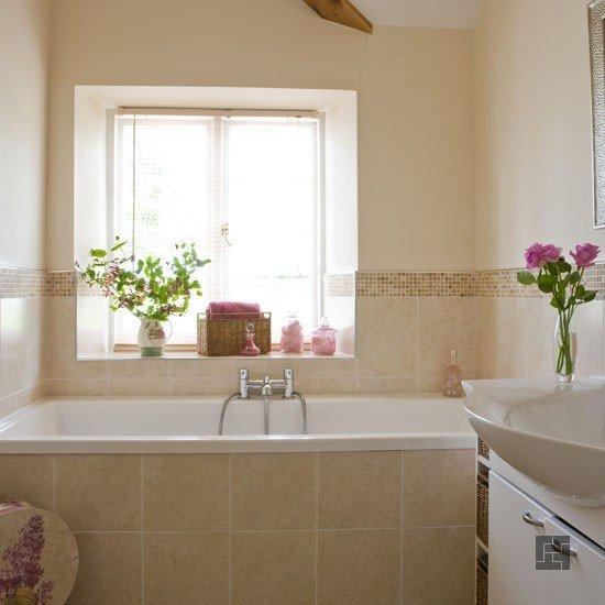 спокойный стиль современной ванной