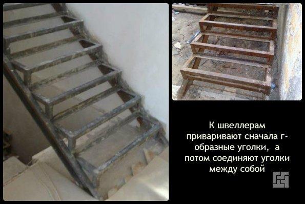 Технология монтажа основы металлической лестницы