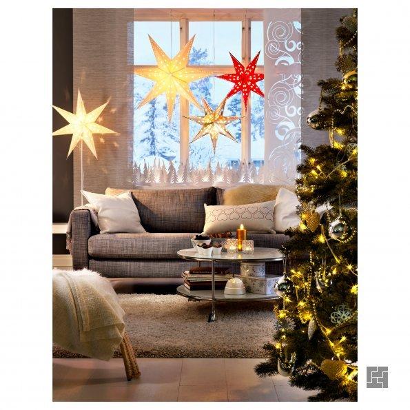 Украшение квартиры в новый год светящимися фонариками и свечами