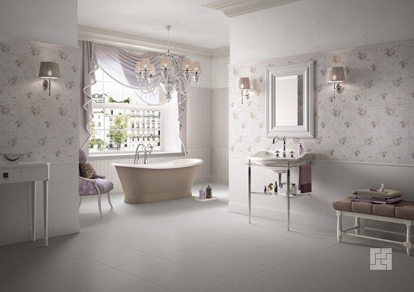 параллельная укладка в ванной комнате