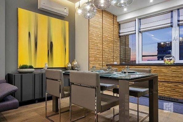 Увеличение кухонного пространства с помощью лоджии