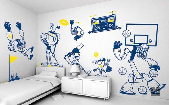 Роспись стен своими руками: создайте сказку