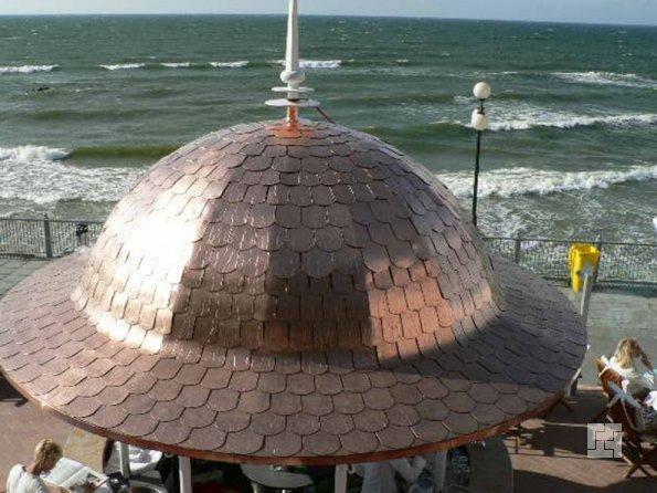 Мягкая черепица на куполе