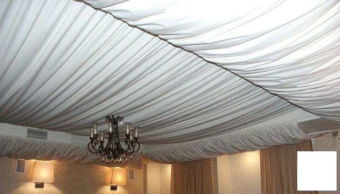Натяжные потолки своими руками тканевые