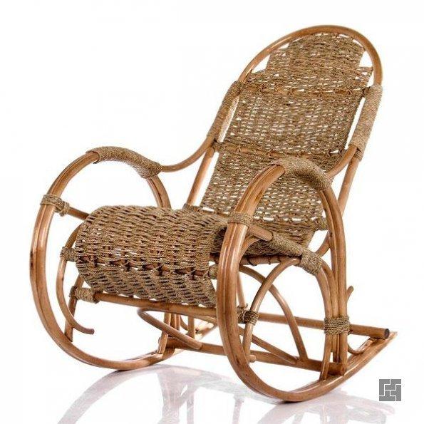 Плетёная модель кресла-качалки