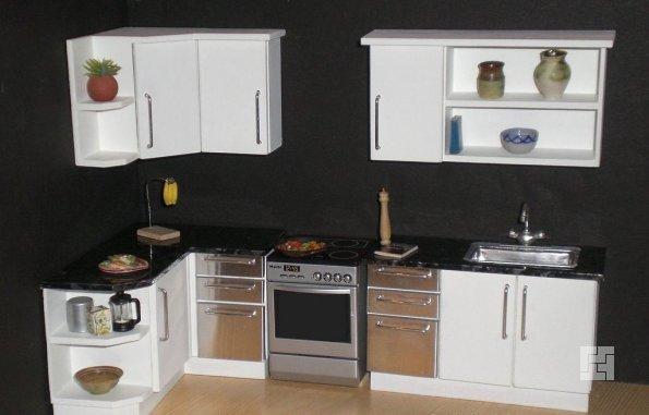 Чёрные стены на кухне