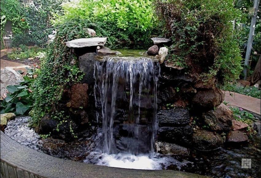 Водопад на даче своими руками 83