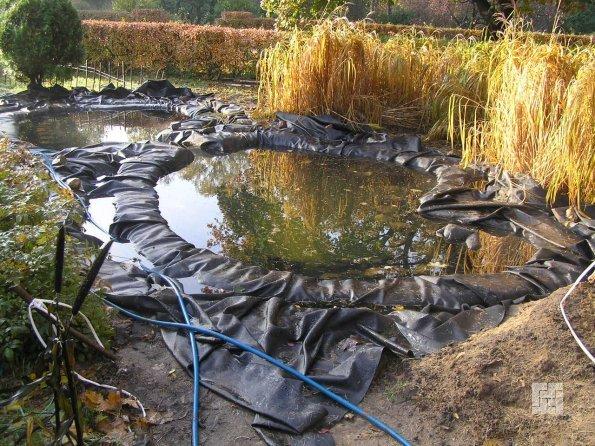 Пленочный пруд строительство