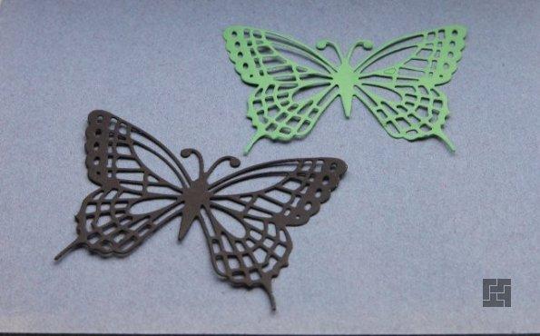Бабочки из картона