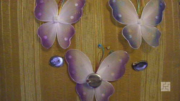 Крепление бабочек на клей