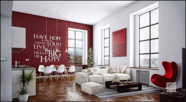 Декор гостиной при помощи букв
