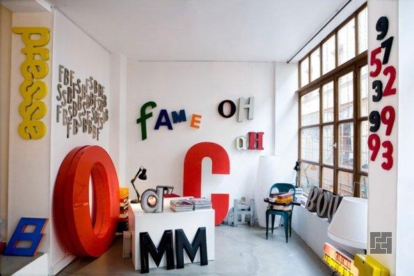 Интерьерные буквы в кабинете