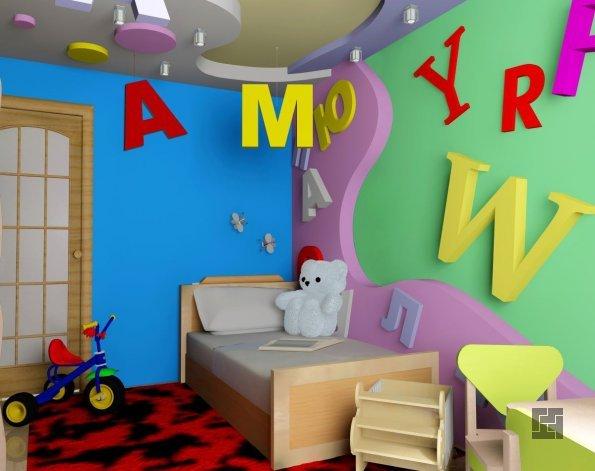 Буквы в интерьере детской комнаты