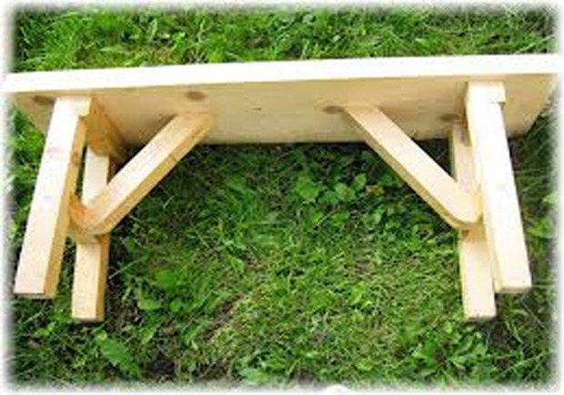 Простая скамейка для бани